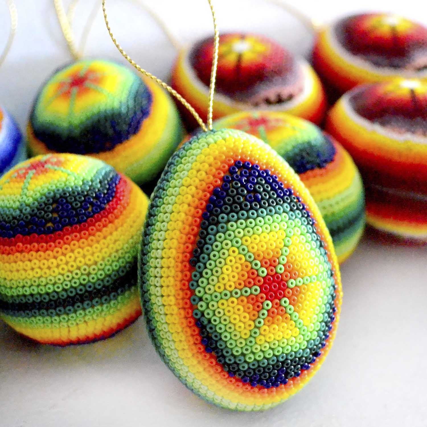 Eggs with beads